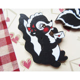 Miss Ladybug Maple Wood Skunk Boy & Girl Pin Set