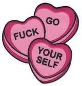 Sourpuss Candy Hearts Patch Iron On