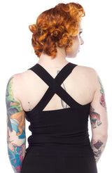 Sourpuss Veronica Top Black