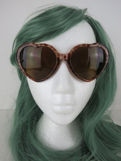Leopard Heart Shape Lolita Sunglasses