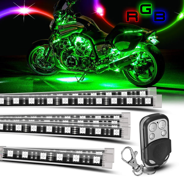 8 Pc Motorcycle LED kit - Trucks led lighting lifted trucks ford chevy dodge led glow lighting