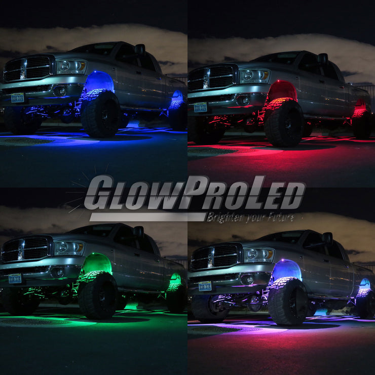 ColorFuZion™ Rock Lights - Trucks led lighting lifted trucks ford chevy dodge led glow lighting