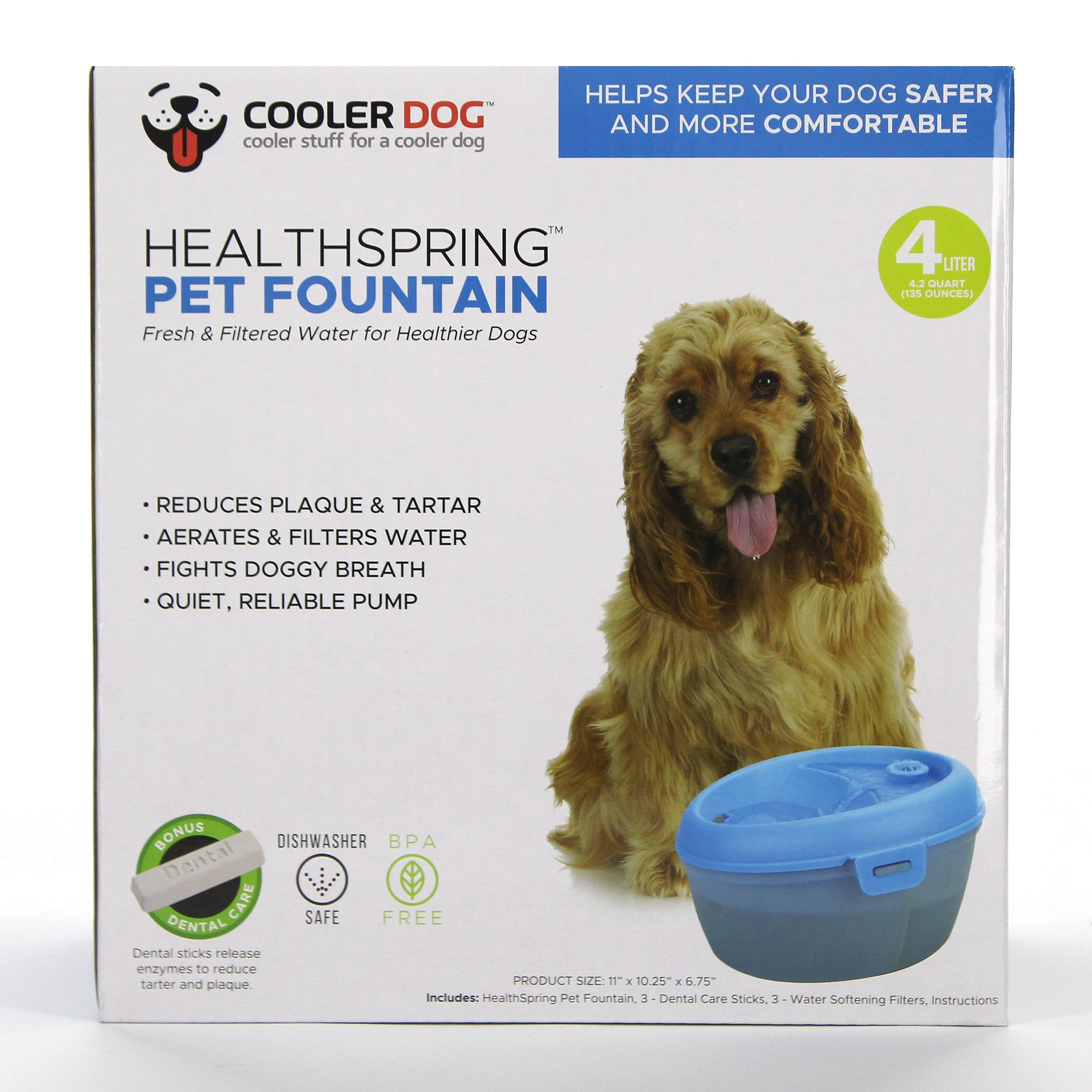 Healthspring Pet Fountain, 4L (136 oz)
