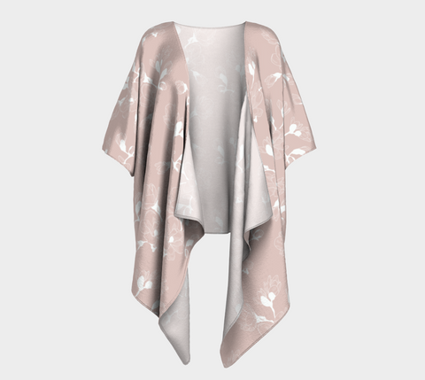 Draped Kimono - Simple Flowers