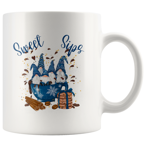 Sweet Sip Gnomes White Mug