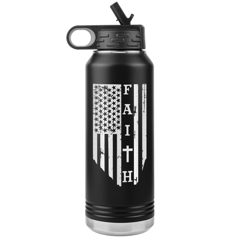 FAITH FLAG STAINLESS STEEL TUMBLER 32 OZ
