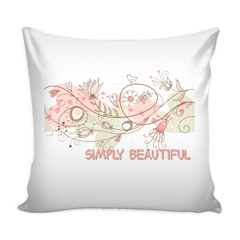 "Simply Beautiful Pillow Cover (16"")"