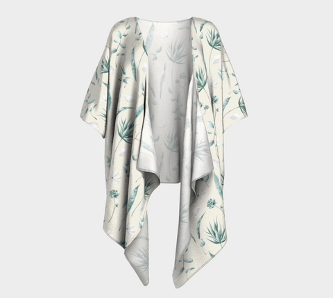Draped Kimono - Simple Leaves