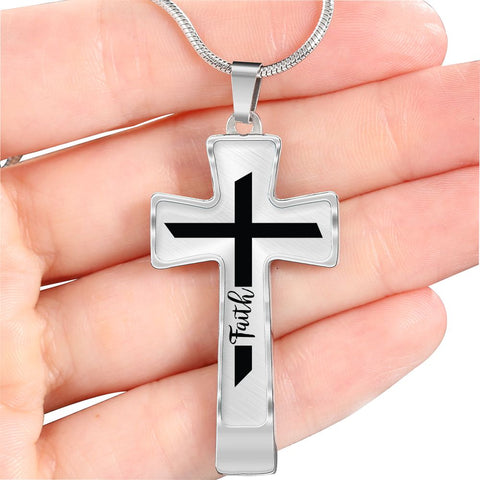 Beautiful Personalized Cross Necklace - Faith