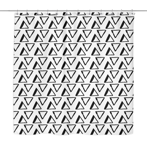 Fun Black and White Shower Curtain