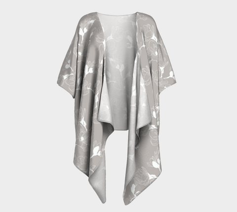 Draped Kimono - Beautiful Grey Beige
