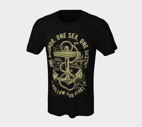 Unisex Vintage Navy Anchor T-Shirt