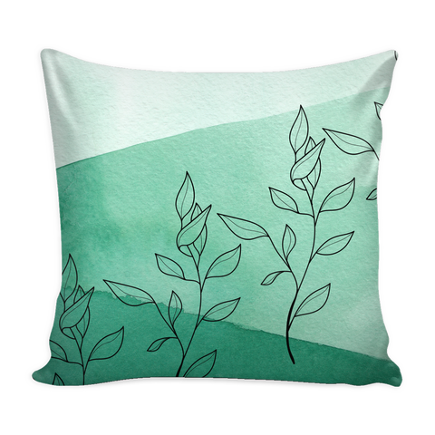 Green Italian Ruscus Pillow Cover
