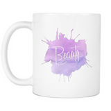 Beauty 11 oz White Mug