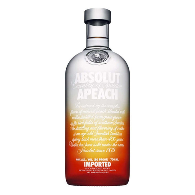 Absolut Apeach Flavoured Vodka | Vodka Delivery | Booze Up
