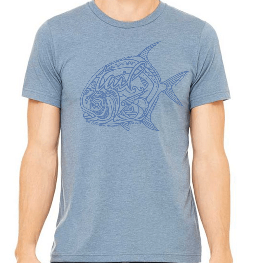 Slate Heather Tee - Permit - Tail Fly Fishing Magazine - Online Fly Shop