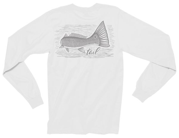 Long Sleeve Tee - Tailing Redfish - Tail Fly Fishing Magazine - Online Fly Shop