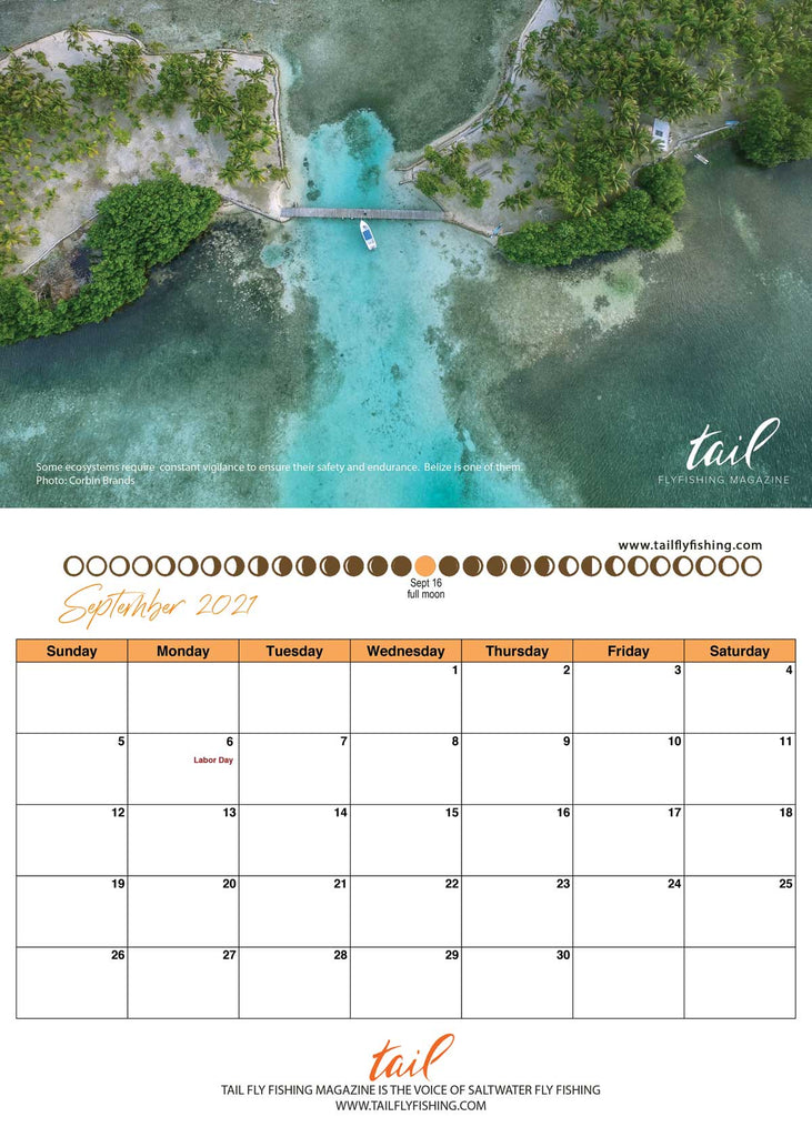 Fly Fishing Calendar 2021 - Tail Fly Fishing Magazine - Tail Magazine Fly Shop