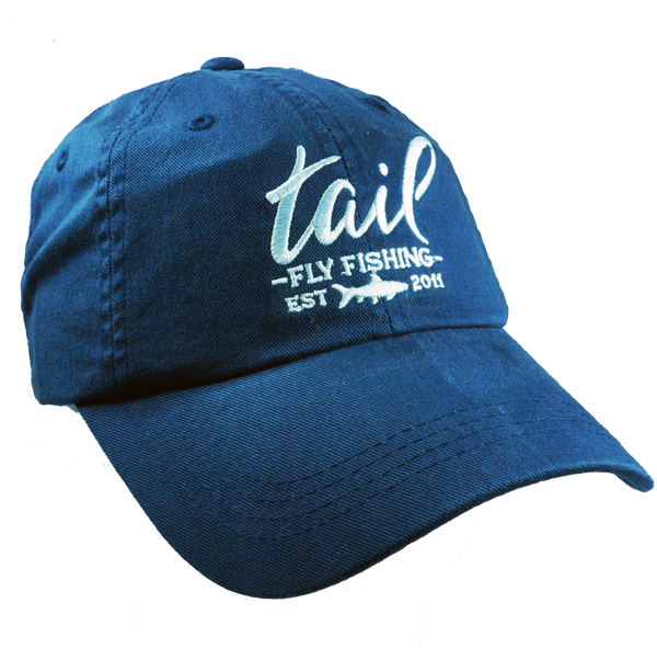brushed cotton embroidered cap - Tail Fly Fishing Magazine - Online Fly Shop