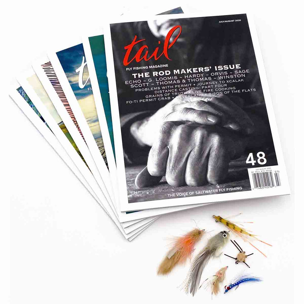 Saltwater flies plus 2 year subscription - Tail Magazine Fly Shop