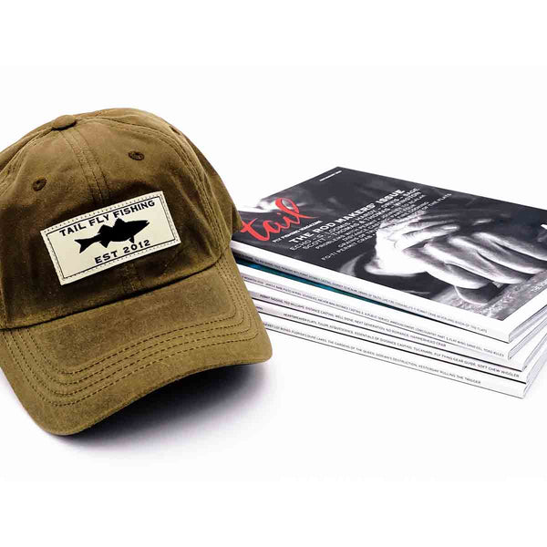 Striped Bass Oil Cloth Cap 2021 & Subscription - Tail Fly Fishing Magazine - Online Fly Shop