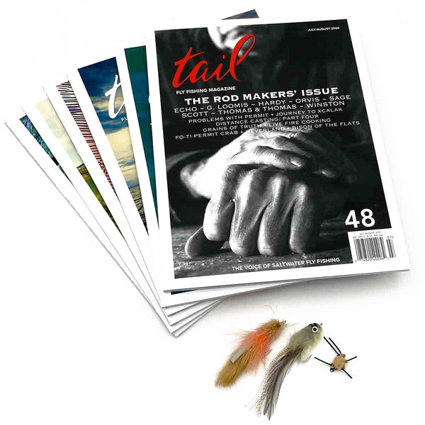 Saltwater flies plus 1 year subscription - Tail Magazine Fly Shop