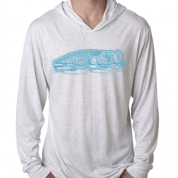 White Heather Hoodie Tee - Tarpon 2019 - Tail Fly Fishing Magazine - Online Fly Shop