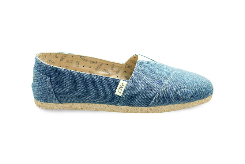 Cork-Canvas Blue