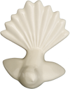 Fantail Wall Ornament, Bone White