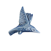 Kingfisher Wall Ornament, wings up, Sapphire