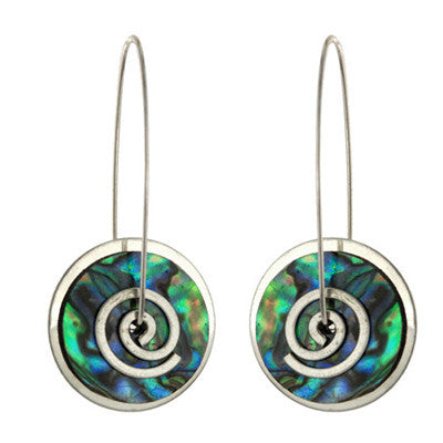 Paua Spiral Earrings, small