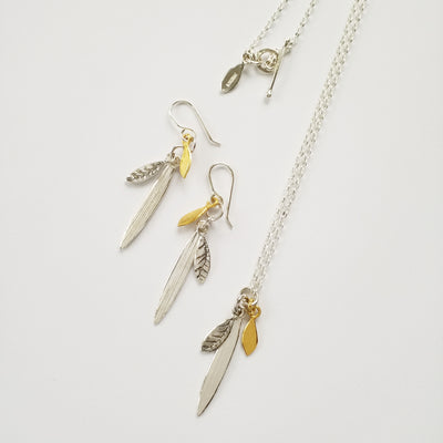 Trio Leaves Necklace, Exclusive