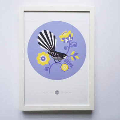 Fantail Dot, Exclusive Framed Print, A3