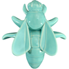 Turquoise Honey Bee Wall Ornament, Small