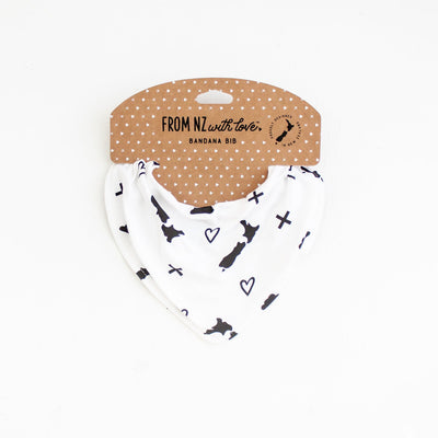 Bandana Bib - Black and White