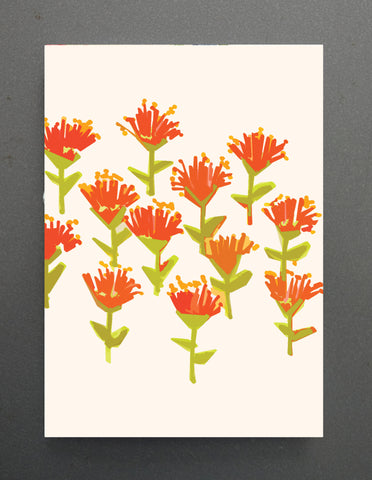 CARD- Tuesday Print, Pohutukawa