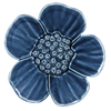 Sapphire Ribbonwood Flower Wall Ornament, Medium