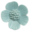 Turquoise Ribbonwood Flower Wall Ornament, Medium