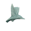 Kingfisher Wall Ornament, wings up, Turquoise