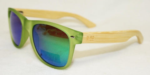 SUNNIES- Original, Transparent Green, Reflective, Plain arm