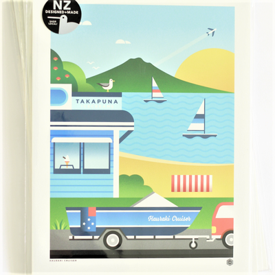 Hauraki Cruiser- EXCLUSIVE ART PRINT
