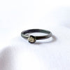 Oxidised and Diamond Stacker Ring