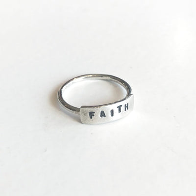 Faith Word Ring