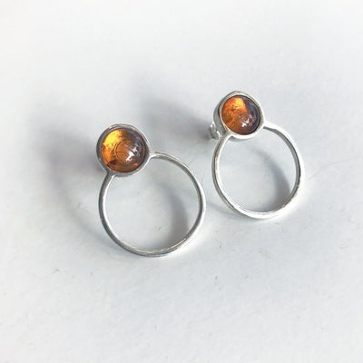 Betty Earrings with Amber