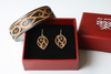 SET- Cuff and earring, Patiki Black