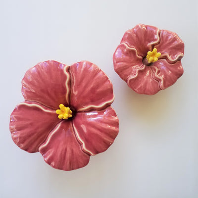 Pink Hibiscus Flower, Large