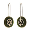Pounamu Spiral Earrings, small