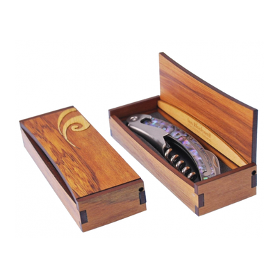 Paua Corkscrew in Rimu Box