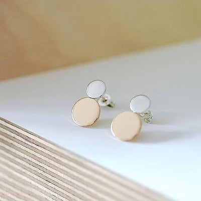 Sterling Silver and 14K Gold Filled Mixed Studs