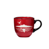 ROUND MUG- Rangitoto, red